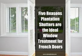 french door plantation shutters a