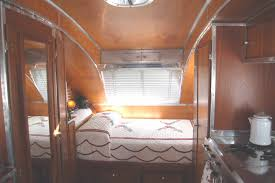 Attractive Picture Shows Beautiful Bedroom In Restored 1947 Aero Flite Trailer