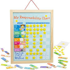My Reward Board My Responsibility Chart Magnetic Dry Erase Wooden Chore