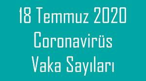 18 TEMMUZ CUMARTESİ | Korona virüs vaka sayıları tablosu | Bugünkü vaka  sayısı - YouTube
