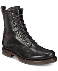 Womens Veronica Combat Leather Booties