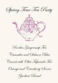 tea party templates tea party menu template free templates 13609 resume examples