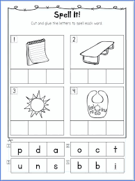 Cut And Paste Phonics Worksheets Alphabet Worksheets Beginning ...