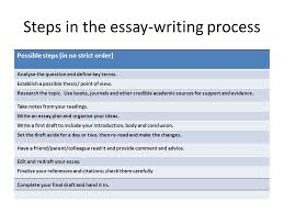 essay writing how to prepare and present high  quality essays  steps in the essay writing process possible steps in no strict order analyse