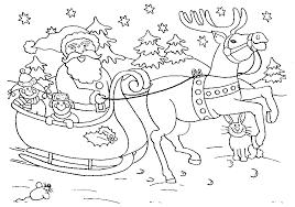 Kleurplaten Kerstman Met Slee Weihnachten Malvorlagen