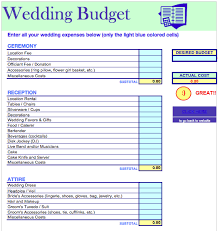 Budgeting For Wedding Wedding Budget List Excel Wedding Budget Template Budget Wedding