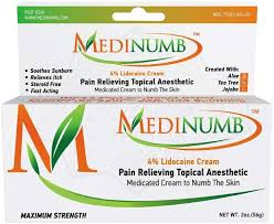 numb lidocaine numbing cream 2oz 56g topical anesthetic pain relief