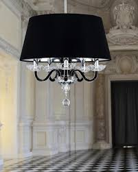 104 sp 5 chrome black crystal chandelier pvc black chrome shade olympia chandeliers