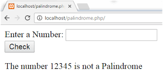 Program to check palindrome using while loop. Php Palindrome Number Program Javatpoint