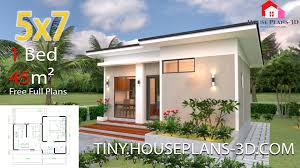 Architectural Designs For Small Houses Small House Design Plans 5x7 With One Bedroom Shed Roof Tiny House Plans