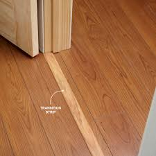 use transition strips under doors if you re installing flooring
