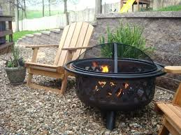 garden with large gas fire pit outdoor natural pits