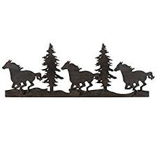black forest decor running horse trees metal wall art clearance on pine tree forest metal wall art with amazon black forest decor running horse trees metal wall art