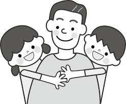 父と子どものイラスト無料イラストフリー素材2