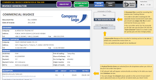 Create A Commercial Invoice Commercial Invoice Generator Tracker