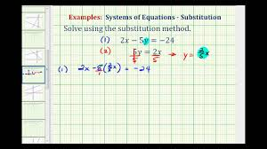 ex solve a system of equations using substitution no solution