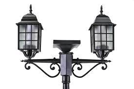 Addison Solar Lamp Post And Planter2 Lantern Head 76 Tall Cast
