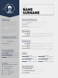 Minimalist Cv Resume Template With Simple Design