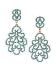 kenneth jay lane women s green resin clip on chandelier earrings
