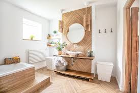 options for adding wood to any bathroom