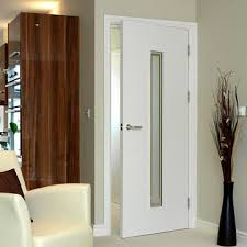 office doors with glass. Limelight Dominion White Primed Flush Door With Etched Safety Glass Office Doors