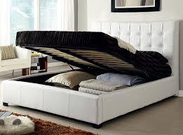 Black bed with white furniture High Gloss Black Larger Image Afw Storage Bed Athens Black By At Home Usa Modern Platform Bed Modern