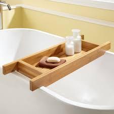 wonderfully bathtub caddy with towel soap for modern bathroom design