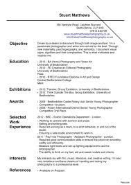 Photographer Resume Examples Photography Resume Examples Objective 100a Samples Photographer 10