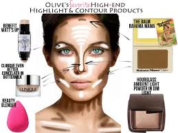 how to contour and highlight your face take a look of the areas of the face that you have to highlight and contour