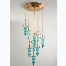 global views julia buckingham tea light chandelier aqua