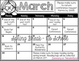 How To Make A School Calendar Calendars For Parent Communication Teacher Forms Parent