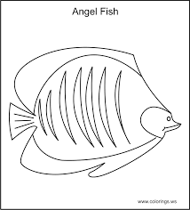 Small Picture Coloringsws Free Angel Fish Coloring Page