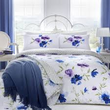 details about dreams ds celestine blue purple fl super king duvet cover set