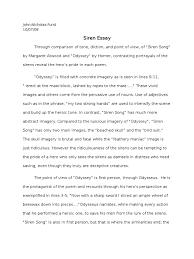 siren essay