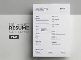Minimalist Resume Minimalist ResumeCV David Graphic Pick 5