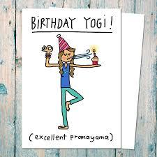 Teachers Birthday Card Birthday Yogi Birthday Card For Yoga Teachers