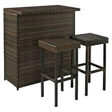 target patio bar set. Delighful Patio Palm Harbor 3Piece Wicker Patio Bar Furniture Set And Target A