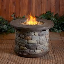 rock gas fireplace