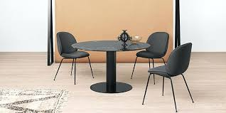 gubi 20 round dining table marble top available in various black marble dining table gubi 20