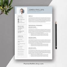 Modern 2020 Resume Template 2020 Resume Template Cv Template 3 Page Resume Cover Letter References Resume Icons And Fonts Resume Editing Guide For Ms Office Word