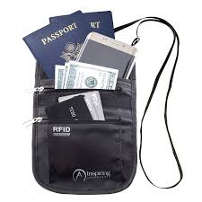 Neck <b>Wallet Passport</b> Holder for <b>Travel RFID</b> Safe & Water Resistant ...
