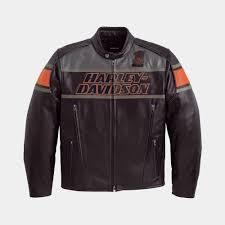 harley davidson rumble colorblocked leather jacket