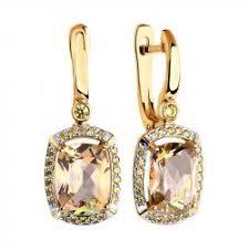 <b>Серьги с топазом</b> - купить в интернет-магазине Diamant.