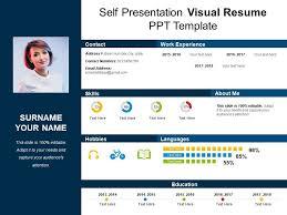 Resume Powerpoint Presentation Self Presentation Visual Resume Ppt Template Powerpoint