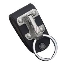 details about quick release belt clip ring holder detachable stainless steel leather key chain
