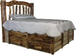 Queen Size Log Bed Frame | Master bedroom design | Log bed frame ...