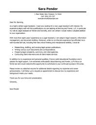 Cover Letter Legal Assistant Best Legal Assistant Cover Letter Examples LiveCareer 1