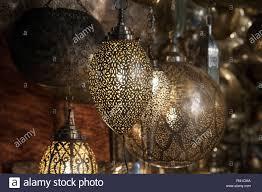 Moroccan Lights Name Metal Lamp Marrakech Stock Photos Metal Lamp Marrakech