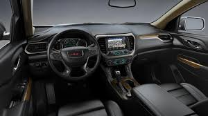 2018 gmc acadia interior. exellent acadia 2018 gmc acadia in jet black perforated leather interior h1y on gmc acadia