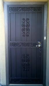 metal security screen door. Metal Security Screen Door Used Iron Elegance Doors Los Angeles